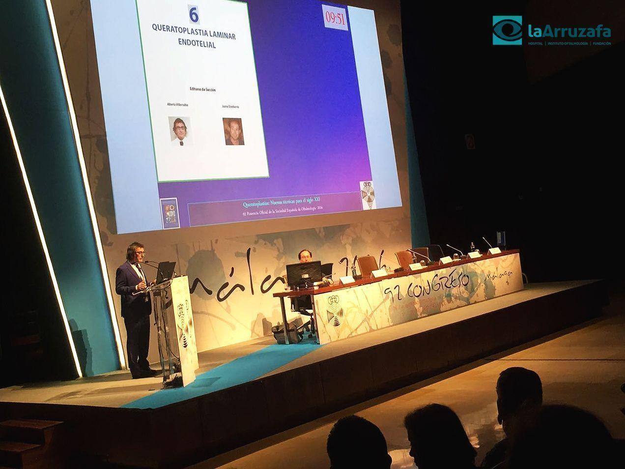 El oftalmólogo Alberto Villarrubia, en el 92 Congreso de la SEO