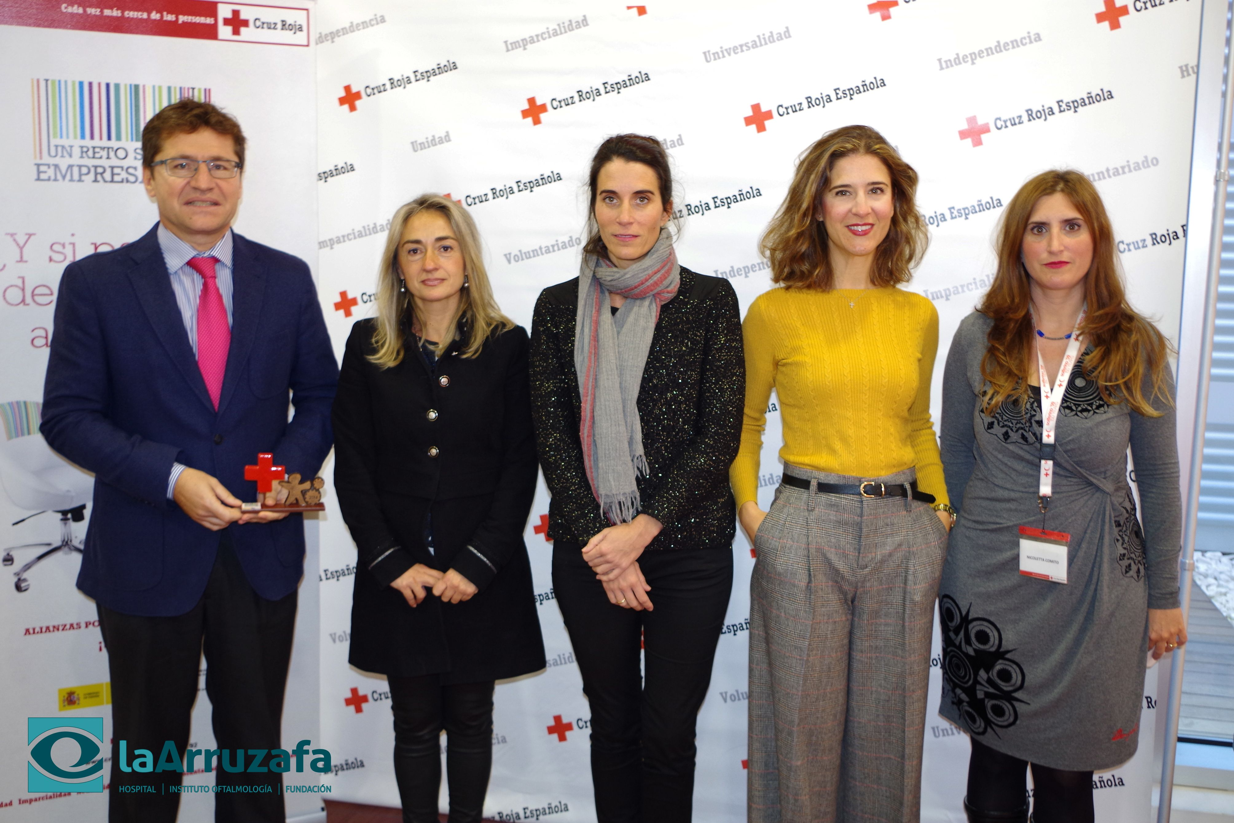 Cruz Roja reconoce la labor del Hospital La Arruzafa por participar en programas de inserción social