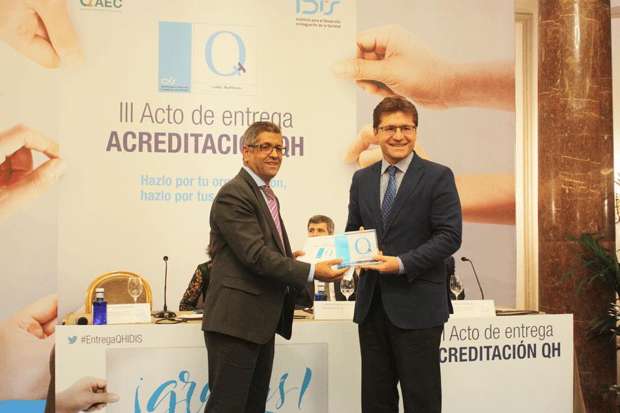 Entrega de la acreditación QH de IDIS en Madrid